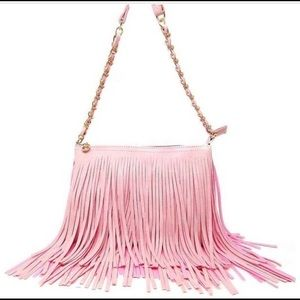 💋FLASH SALE💋💕Pink tassel boho crossbody💕